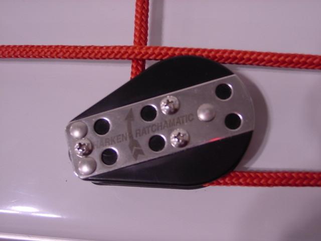 The Flying Scot uses Harken hardware.
