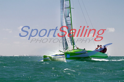 Sknot, Chris Culph's Farrier F22R finishing the Passage Race