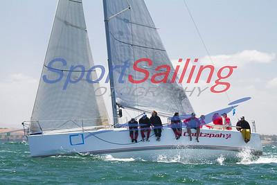 Chutzpah 38 finishing the Passage Race @ the Festival of Sails 2012