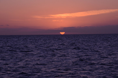 Sunset in the west, as we sail sou'east.