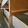 Detail of post cut to receive inner doubler plate. Alternatively, there would be no notches and the 4 foot wide side panel would go on first, followed by the 2 foot doubler plate.<br /> Photo: Jon Mickel