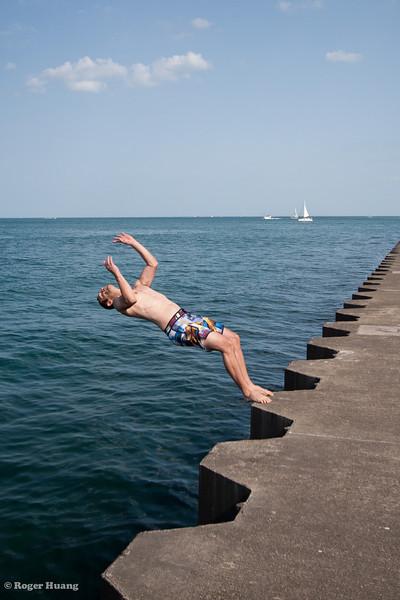 Andre's backflip dismount.