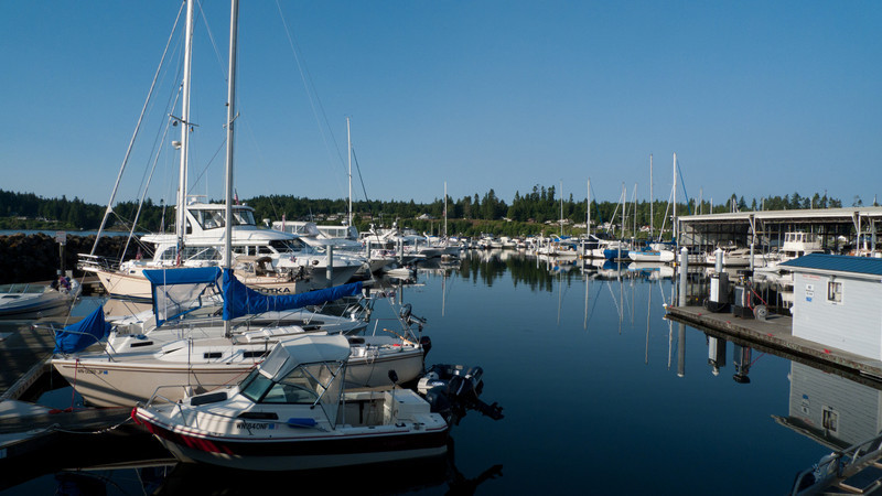 Guest slips at Kingston Marina.  Not too many sailboats.