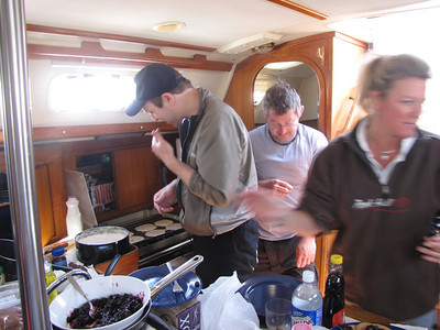 This was the check-in girl for the boat.......she sampled Keith's pancakes and gave him his official nickname for the trip.......GALLEYBOY!