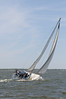 """""""Wind Dancer"""" buries the rail on a westerly close reach"""
