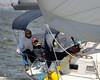 """Matt Ondra captains the helm of  """"Wind Dancer"""""""