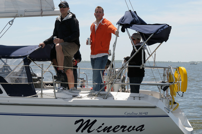 """Minerva"" crew with cold ones"