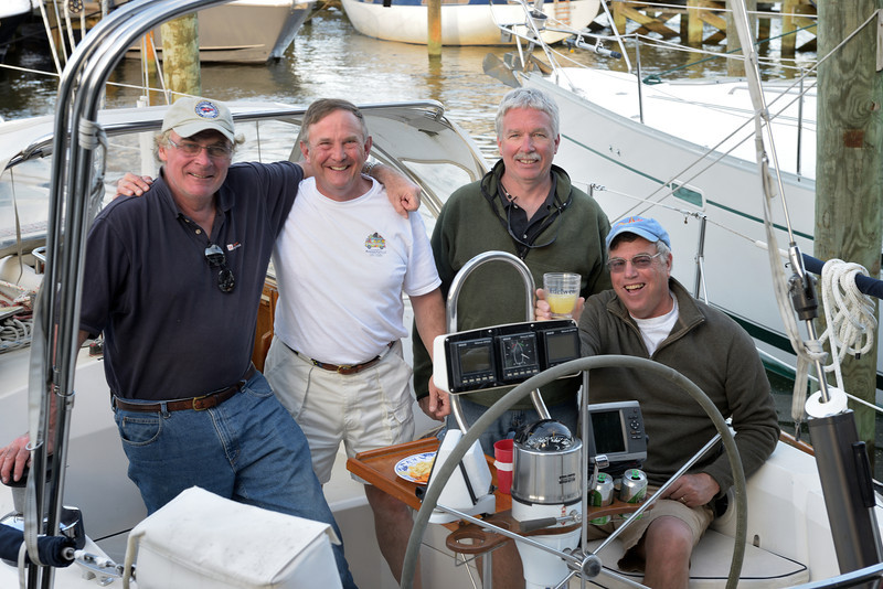 """Capt Klaus Burckhardt (r) with Crew of """"Edelweiss"""""""