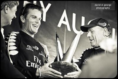 LV Trophy presentation to Dean Barker and Grant Dalton