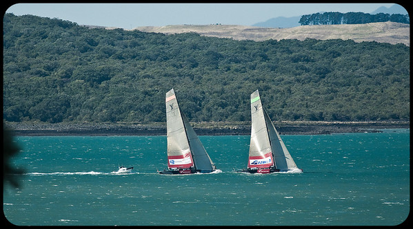 Pre start for All4One and Azzura - the wind was up to close to 20kn