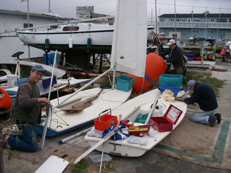 Paul Pfluger, Marcus Choy and Charlie Quest prep the fleet