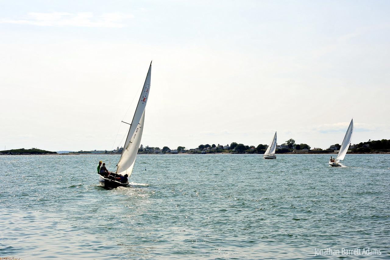 Panacea, Ode to Joy, & Nessie Sailing Toward Intervale