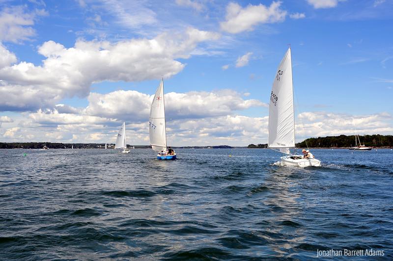 Nessie, 777, & Duchess II Racing Downwind