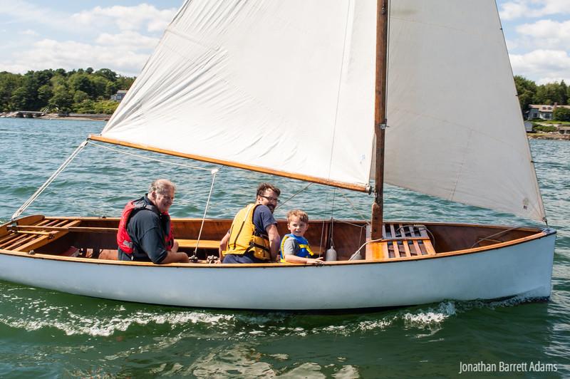 Three Generations Sailing Cairn Gorm