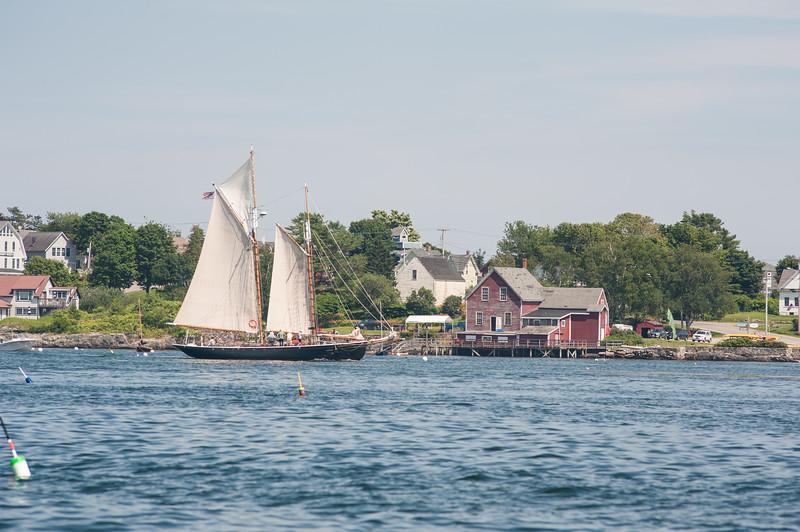 Schooner Alert  approaches home port