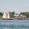 Schooner Alert  approaches home port