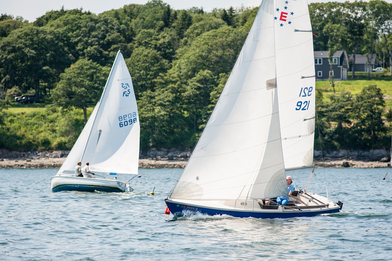 Nessie & Panacea racing toward Intervale