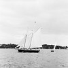 The Schooner 'Alert' Sails Past