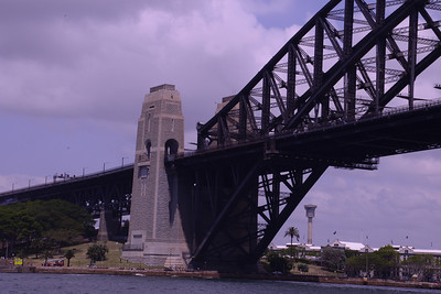 Piers of Sydney Harbour Bridge.