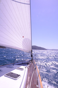 On course for headlands and entrance to Pittwater.