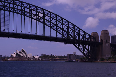 View to Opera House as we approached Sydney Harbour Bridge.