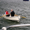 Maiden voyage aboard the new sailing dinghy....name has not yet been determined.