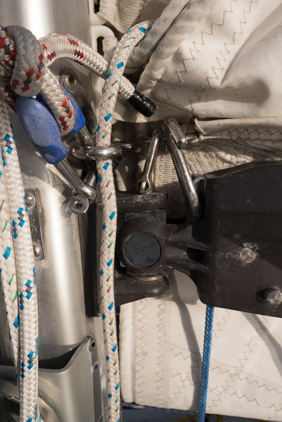 reefing hook and tack shackle.