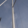 mast bend: high backstay tension