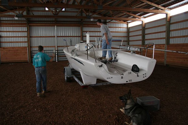 Picking up Jim's boat