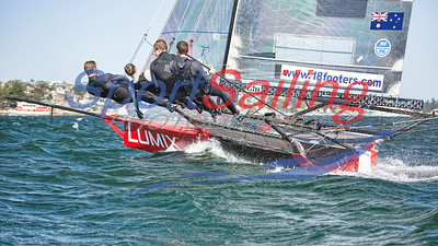 18ft Skiff Queen of the Harbour by Beth Morley / Sport Sailing Photography.com