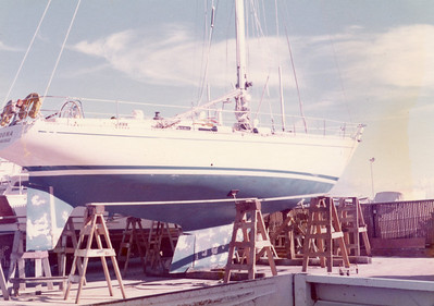 This yacht caught me eye, name unknown, but probably an early Sparkman and Stephens.  Lovely lines.