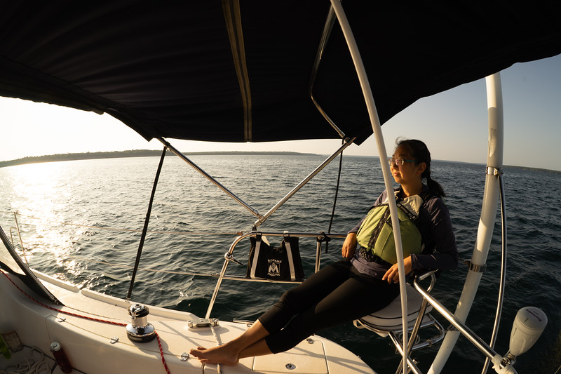 This was our longest sailing day by far. Here we are approaching Outer Island.