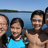 After arriving back at the boat we jumped in for a swim! Mid August in the Apostles Lake Superior is quite swimmable. The water is absolutely amazing. Crystal clear and fresh!