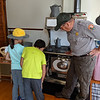 The lighthouse was staffed and this park employee gave us a tour. He did a great job explaining what life was like for the lighthouse family to the kids.
