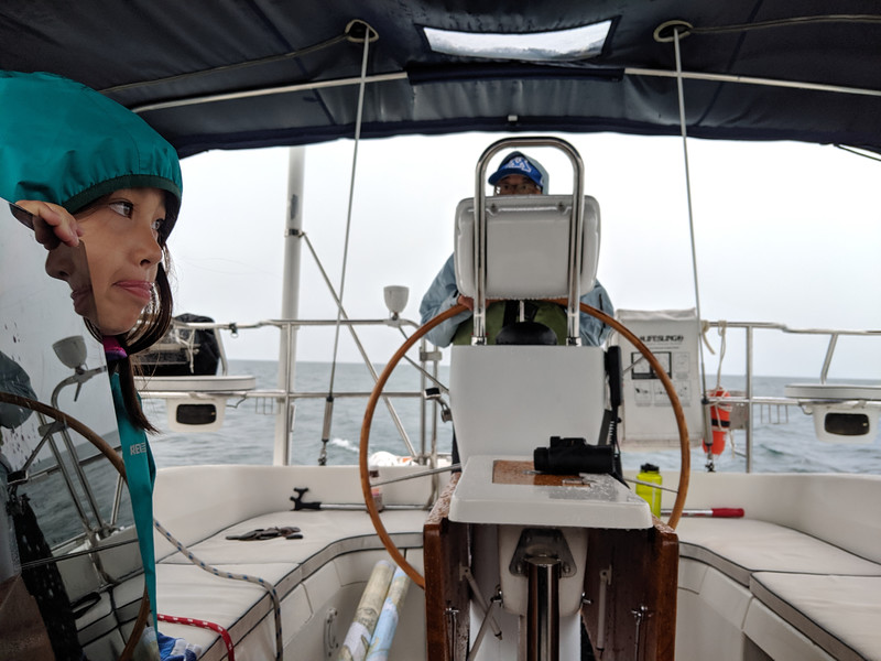 The next morning, our last, turned out to be a rainy one. It would be a short sail around Madeline Island and to Pike's Bay Marina. The only challenge left would be successfully docking the boat in the slip without mishap.