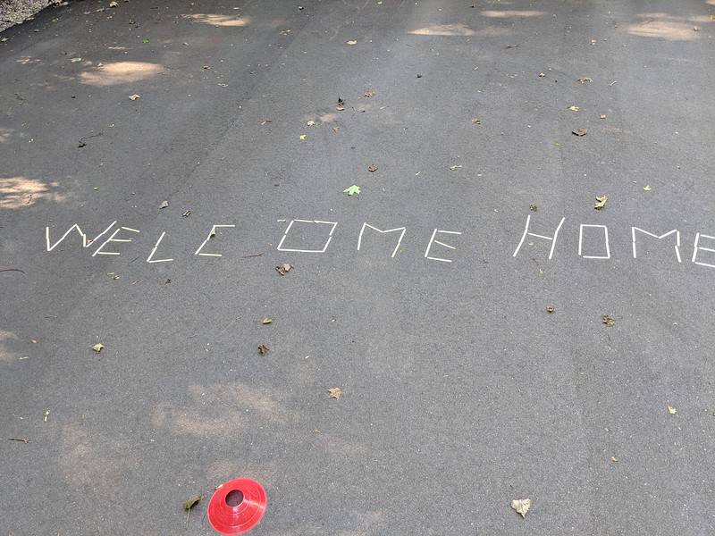 We arrived home and friend's had left us a message.