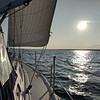 We sailed by Julian Bay on Stockton Island. A few people chose to anchor here, but it was a weak anchorage for the night based off the wind direction. We chose to continue on towards Madeline Island.