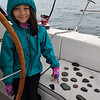 Maddie got to know the Apostle Islands well. Here she arranged her rocks according to the islands on the map.