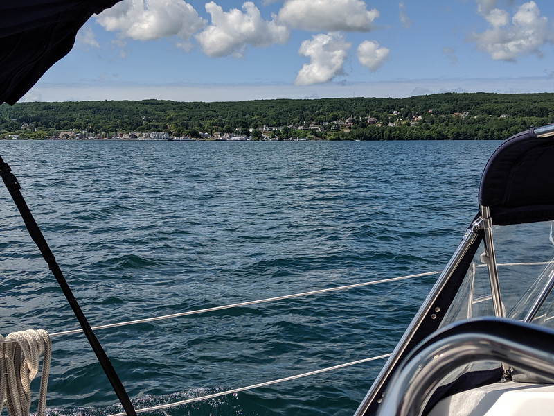 Sailing by Bayfield.