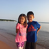 """We anchored in Presque Isle bay with another dozen or so sailboats and paddled our dinghy into shore to explore the beach. Becca and I had kayaked here in 2008, see <a href=""""https://photos.lukeludwig.com/Kayaking/Apostle-Islands-July-2008/"""">https://photos.lukeludwig.com/Kayaking/Apostle-Islands-July-2008/</a>"""