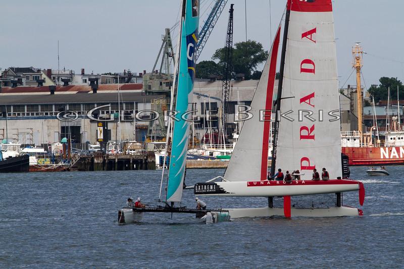 Extreme Sailing Series Boston 2011<br /> Luna Rossa Pindar