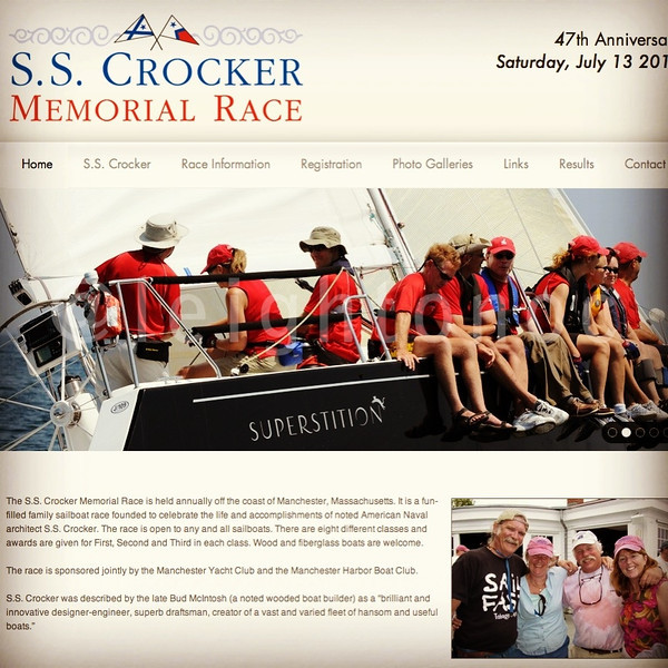 "47th S.S. Crocker Memorial Race tomorrow. 52 boats. You still have a few hours to sign up. <a href=""http://www.sscrockerrace.com"">http://www.sscrockerrace.com</a>  (Nice website. Wonder who did it?)"