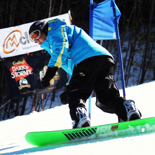Riders ripping up gates to at Atlantis Cloudveil Snowflake Regatta @attitashresort #skiing #riding #racing #newhampshire