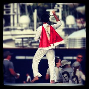Elvis lives & he raced in the @sxmheineken on a Gunboat #sxmheineken @stmaartentravel #sailing