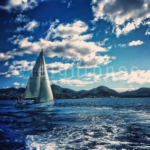 Blue enough for you? @sxmheineken #sxmheineken #sailing #regattas @heineken #heineken