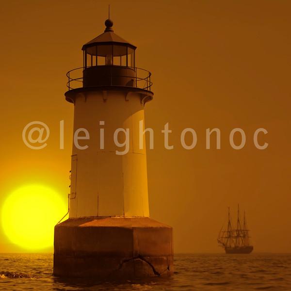 Name that lighthouse. Name the ship.