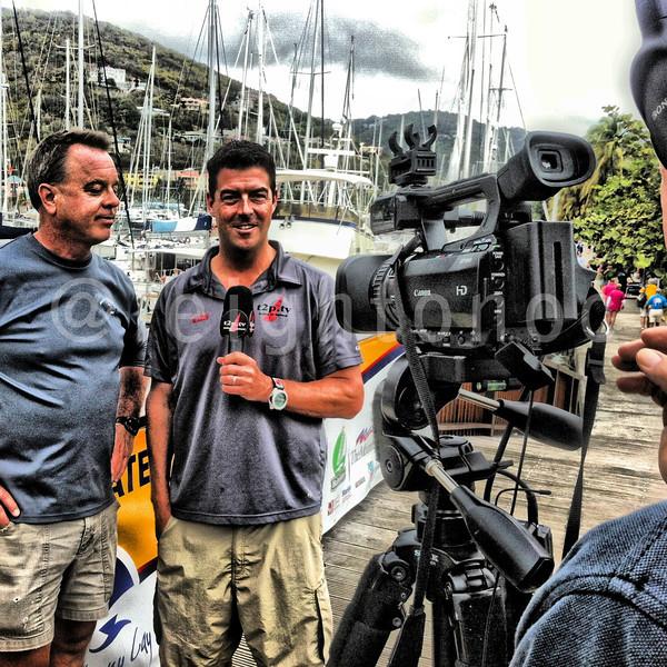Tucker starting day with interview with @springregatta video sponsor David Edwards of Heron Financial Grp @tp2tv #bvisr13