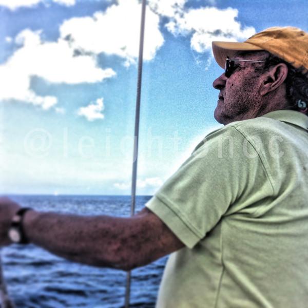 The legend on board calling tactics around Tortola. Mr. Hot Pepper @springregatta @britishvirginis #bvi #bvisr13 #ilovethebvi