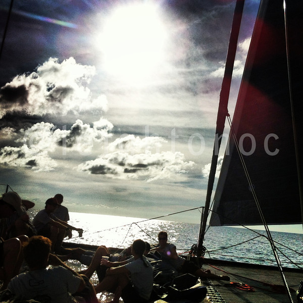 I took this while I was driving Panthera back while the whole crew was enjoying  beverages in the hammock @sxmheineken #sxmheineken @vactionstmaarten  @stmaartentravel #sailing #regattas