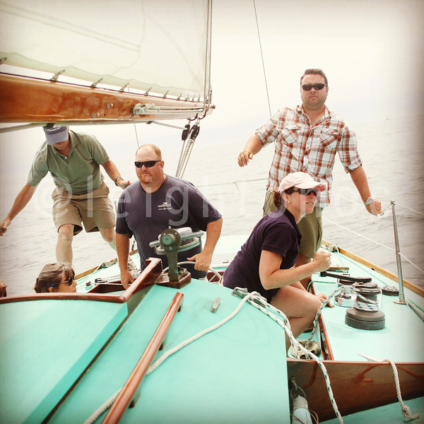 Looks like more action on board then there is. #sailing